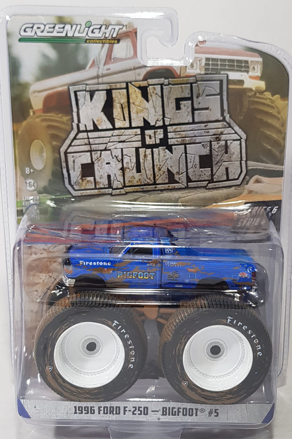 1:64 Greenlight Ford F-250 #5 BigFoot - King Of Crunch Series 6