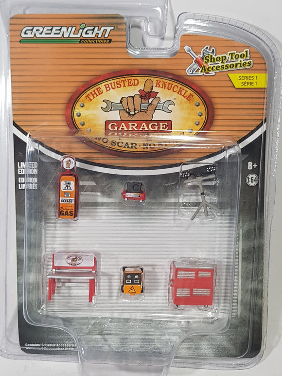1:64 Greenlight Auto Body Shop - The Busted Knuckle Garage - Shop Tool Accessories Series 1