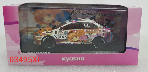 1:43 Kyosho Mitsubishi Lancer Evolution X #505 - Alice Motors 2011
