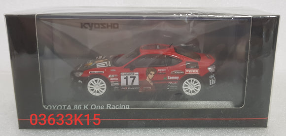 1:43 Kyosho Toyota 86 K One Racing #17 - Initial D
