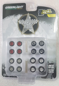 1:64 Greenlight Hollywood Icons Wheel & Tire Pack