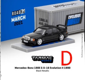 ☆Preorder☆ 1:64 Tarmac Mercedes Benz 190E 2.5-16 Evolution II 1990 Black Metallic