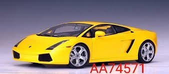 1:18 Autoart Lamborghini Gallardo Metallic Yellow