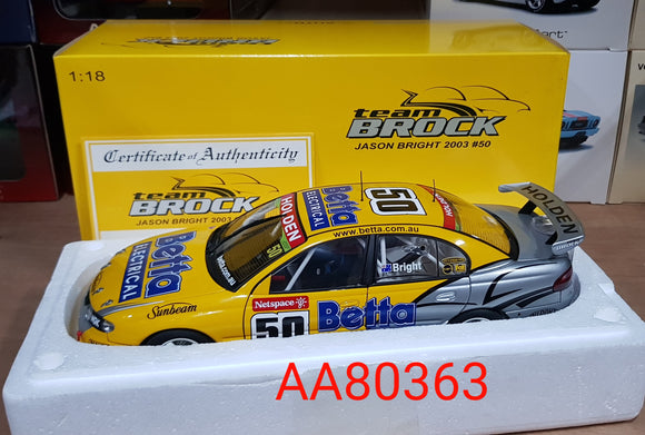1:18 Autoart Holden Commodore VX Race Car 2003 Team Brock Bright #50