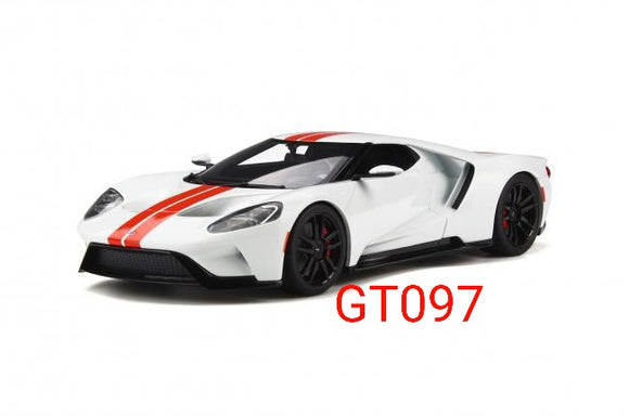 1:18 GT Spirit Ford GT MY17 White/Red - GT097