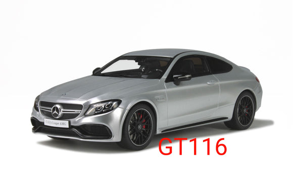 1:18 GT Spirit Mercedes Benz C63s Coupe Silver - GT116