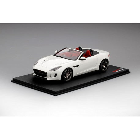 1:18 Top Speed Jaguar F Type R Convertible - Polaris White