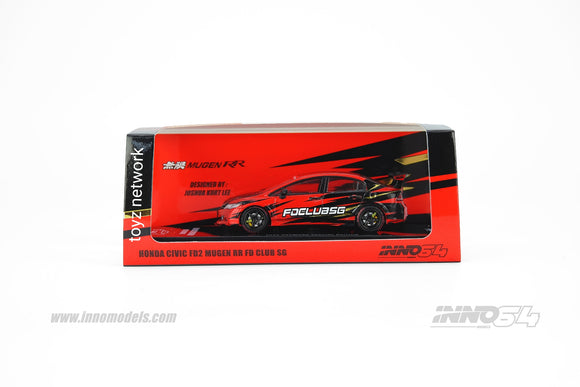 Pre Launch 1:64 Inno64 Honda Civic FD2 Mugen RR - FD Club SG