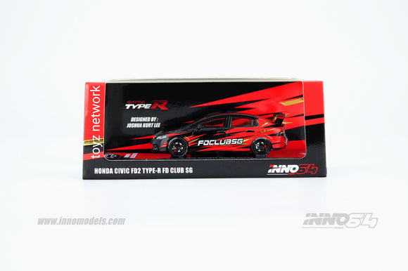 1:64 Inno64 Honda Civic FD2 - FD Club SG