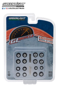 1:64 Greenlight GL Muscle Wheels & Tires set