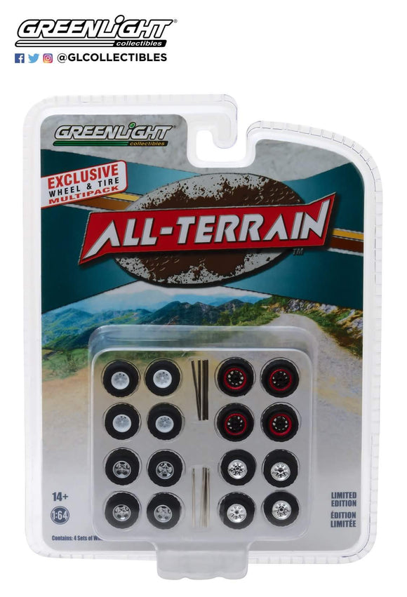 1:64 Greenlight All Terrain Wheels & Tires set