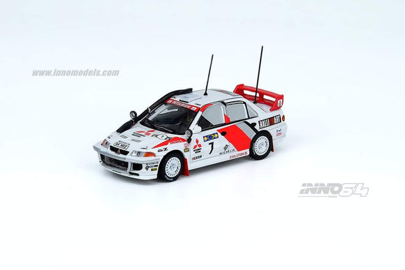 1:64 Inno64 Mitsubishi Lancer Evolution III #7 Safari Rally 1996
