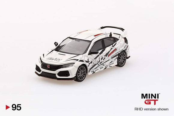 1:64 Mini GT Honda Civic Type R Blitz - White