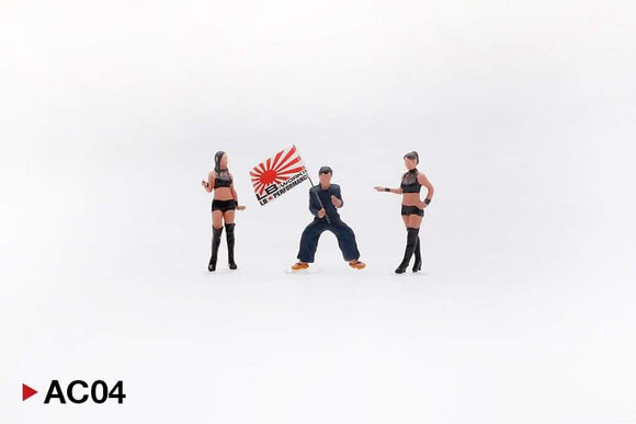 1:64 Mini GT LB Works Mr Kato & Show Girls - Type A