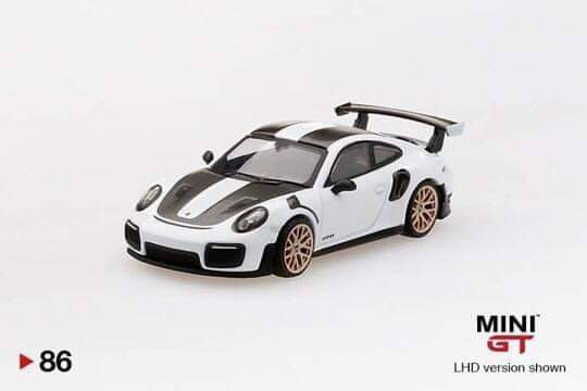 ☆Preorder☆ 1:64 Mini GT Porsche 911 GT2 RS Weissach Package - White #86
