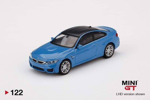 ☆Preorder☆ 1:64 Mini GT BMW M4 F82 - Yas Marina Blue Metallic #122