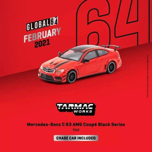 ☆Preorder☆ 1:64 Tarmac Mercedes Benz C63 AMG Coupe Black Series Red
