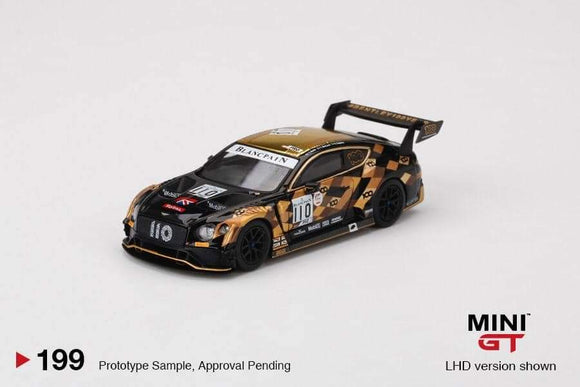 ☆Preorder☆ 1:64 Mini GT Bentley Continental GT3 #110 2019 Total 24hrs of Spa M-Sport Team Bentley MGT00199