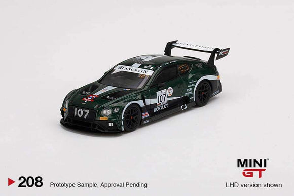 ☆Preorder☆ 1:64 Mini GT Bentley Continental GT3 #107 2019 Total 24 Hr of Spa M-Sport Team Bentley - MGT00208L