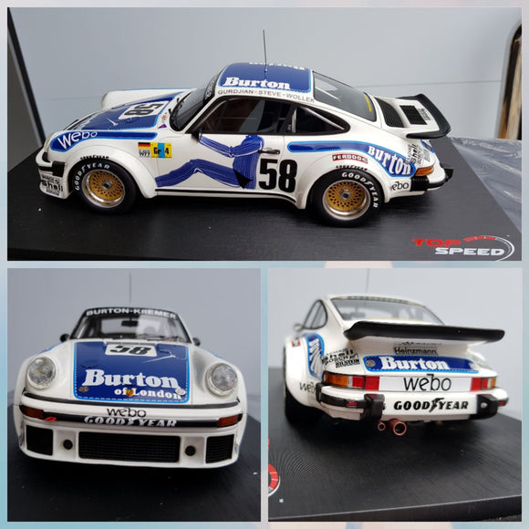 1:18 Top Speed Porsche 934 #58 1977 LeMans