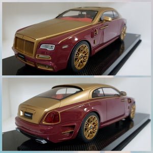 1:18 Autobarn Rolls Royce Mansory Gold on Red