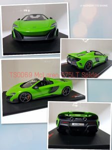 1:18 Top Speed Mclaren 675LT Spider - Mantis Green