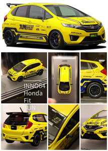 1:64 Inno64 Honda Fit 3 RS, Tuned by JUN Auto