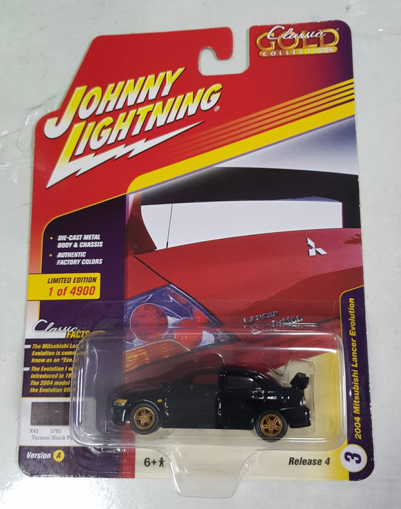 1:64 Johnny Lightning Mitsubishi Lancer Evolution Black