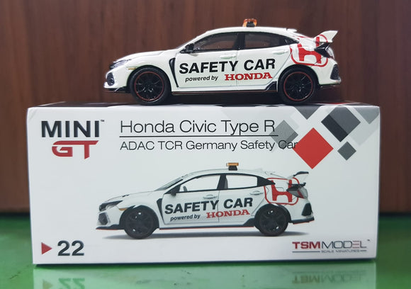 1:64 Mini GT Honda Civic Type R FK8 ADAC TCR Germany Safety Car LHD - Indonesia Exclusive