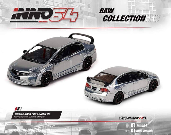 1:64 Inno64 Honda Civic FD2 Mugen RR - RAW Collection