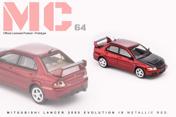 1:64 MC64 Mitsubishi Lancer Evo IX - Metallic Red