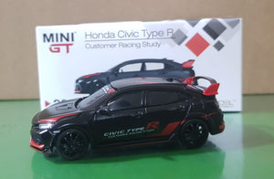 1:64 Mini GT Honda Civic Type R FK8 - Customer Racing Study LHD