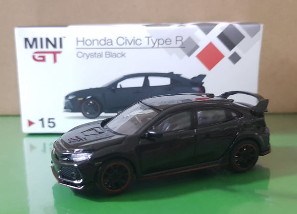 1:64 Mini GT Honda Civic Type R FK8 - Crystal Black RHD