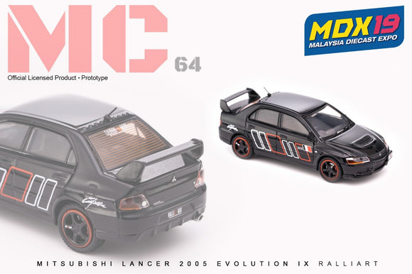 1:64 MC64 Mitsubishi Lancer Evo IX - Ralliart Black