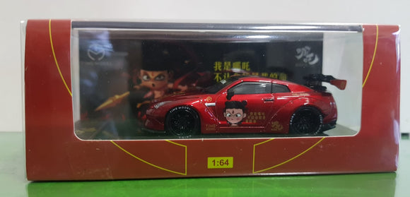 1:64 Time Model LB Performance Nissan GTR R35 Nezha - GT Wing