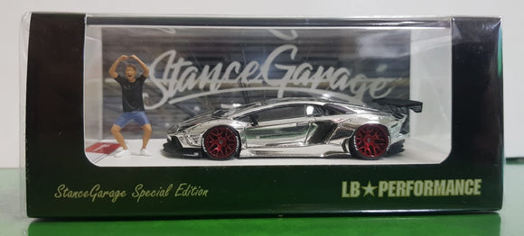 1:64 LB Works Lamborghini Aventador Chrome - Stance Garage Special Edition (Taiwan)