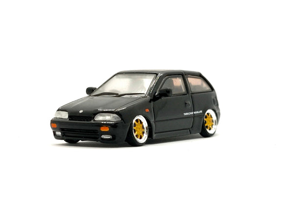☆Preorder☆ 1:64 BM Creations Suzuki Swift 1989 - Black (RHD)