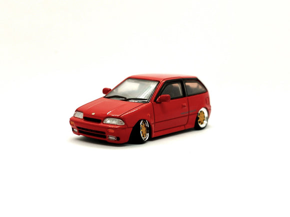 ☆Preorder☆ 1:64 BM Creations Suzuki Swift 1989 - Red (RHD)
