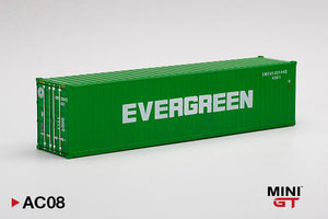 "☆Preorder☆ 1:64 Mini GT Dry Container 40Ft ""Evergreen"" - MGT #AC08"