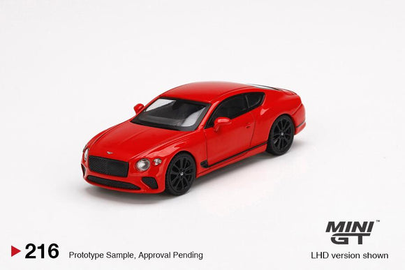 ☆Preorder☆ 1:64 Mini GT Bentley Continental GT St James Red(RHD) - MGT216