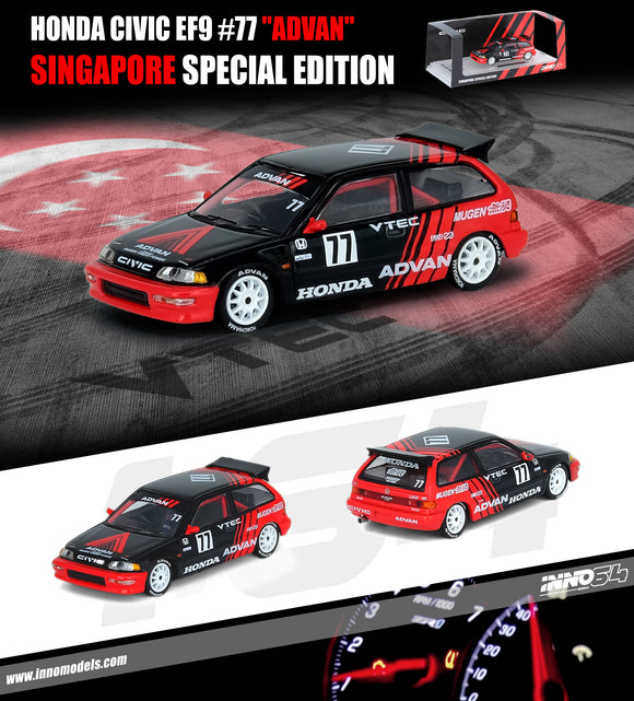 1:64 Inno64 Honda Civic EF9 #77 Advan - Singapore Exclusive