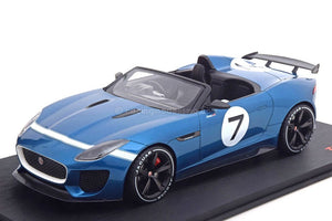 1:18 Top Speed Jaguar F Type Project 7 Concept - Ecerie Blue