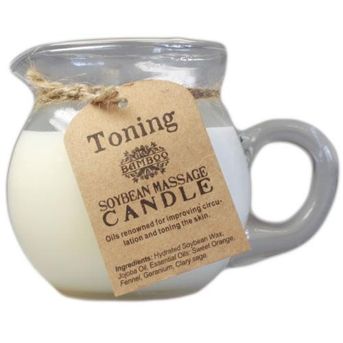 Toning and firming massage candle