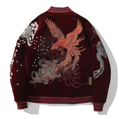 Four Auspicious Beasts Embroidered Sukajan Heavy Jacket