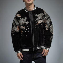 Autumn Suzaku Phoenix Embroidered Sukajan Heavy Jacket