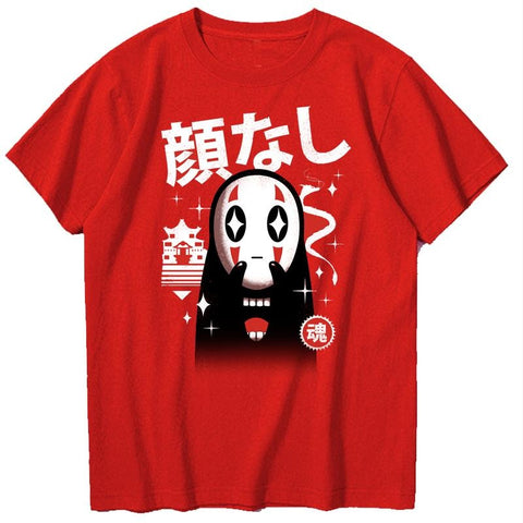 Kawaii No-Face Sukajan T-Shirt - Hype Ninjas