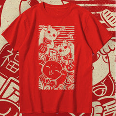 Lucky Cat Trio Sukajan T-Shirt