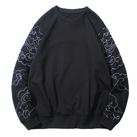 Subtle Clouds Sukajan Sweater - Hype Ninjas