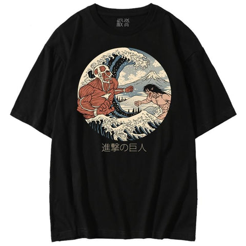 Battle of the Titans Sukajan T-Shirt - Hype Ninjas