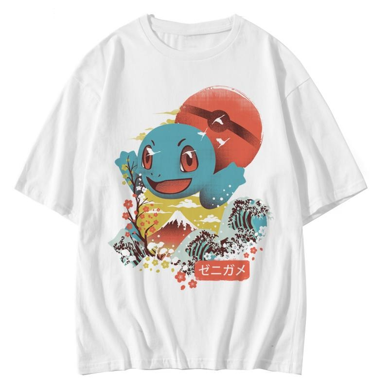 Squirtle Canvas of Japan Sukajan T-Shirt